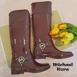 EUC Michael Kors Harness Tall Rain Boots